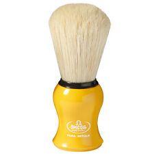 Omega 10065 Natural Bristles Shaving Brush colored handle Yellow Blue Red Green