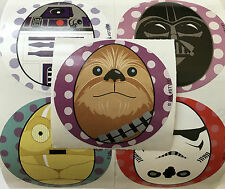 15 Star Wars Easter Egg  Stickers Party Favors Teacher Supply  Yoda Darth Vadar