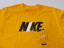 Boy's Nike S small 8 TEE T shirt logo yellow gold active tee NEW youth kids NWT