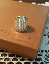 Silpada .925 Sterling Silver DIVIDE Ring R3470 SIZE 8