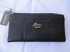 NWT GUESS  Flowing BLACK Fold-Over  Wallet Purse Handbag Bag
