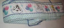 Vintage WB Looney Tunes Baby Crib Bumper Pad Nursery Bedding Bugz Bunny Tweety