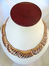 Women's Shinny Rose Gold plated  Stainless Steel Large Link Necklace 16 Inch