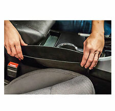 2Pcs Car Seat Side Gap Filler Storage Pocket for Small Gadgets Black