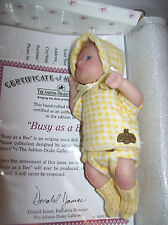 """ASHTON DRAKE/ DOROTHY STEVEN  SO TRULY REAL """"BUSY AS A BEE""""  WITH COA"""