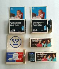 Vintage Lot Camera Photography 5 Packs Westinghouse Flash Bulbs/Cubes AG-1/AG-1B