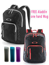 Oakley 20L Base Load school laptop Bag Black - Black and Red &FREE Aladdin Mug