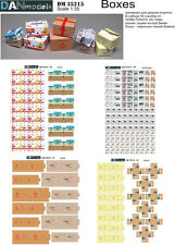 1/35th scale card board boxes, set 1, Tamiya Meng Diorama