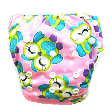 1 Smile Owl Swim Diaper Nappy Pants Adjuatable Reusable Infant Baby Toddler Girl