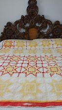 Awesome Rare Vintage Feathered Star Variation Quilt /Crafting #J48.