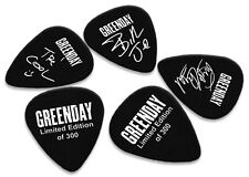 Greenday 5 X Double Sided Guitar Picks Ltd 300 (White on Black)