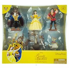 NEW Disney World Land Beauty and the Beast 6 Figure Figurine set Belle Gaston