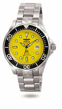 Invicta Men's 3048 Grand Pro Diver Automatic Yellow Dial Stainless Steel Watch