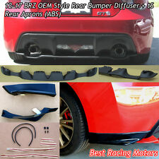 12-17 BRZ Factory Style Rear Diffuser (ABS) + STi tS Rear Aprons (ABS)