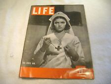 LIFE MAGAZINE WITH RED CROSS GIRL ON COVER JULY 1, 1940