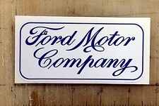 """Vintage Ford Motor Co blue sticker decal 4.5""""x2.2"""""""