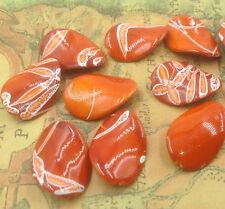 NEW orange 10pcs  type irregular AB loose beads FREE SHIPPING L29