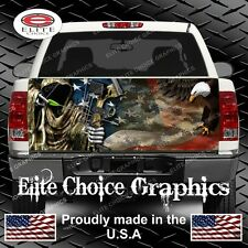 Reaper American Flag Eagle  Camo Truck Tailgate Wrap Vinyl Graphic Decal Wrap