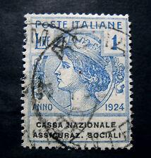"""ITALIA, ITALY REGNO-PARASTATALI 1924 """" Cassa Nazionale Assicuraz.Sociali 1V. US"""