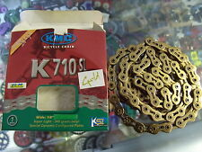 "KMC K710SL FIXED--BMX BICYCLE GOLD 1/2"" X 1/8""--100 LINKS CHAIN"