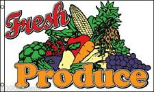 Fresh Produce Fruit and Veg Stall Farm Shop Sign Advertising POS 5'x3' Flag