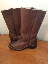 FRYE WOMENS CAMPUS SHEARLING BOOTS TAN LEATHER SIZE 11 NEW