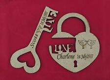 Personalised Engraved Valentine Gift Present Key And Padlock First Valentines
