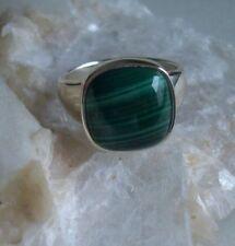 Ring mit Malachit,  925er Silber, Gr. 19,7