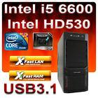 ASRock Z170-Aufrüst-PC Intel Core i5 6600 4x3,90GHz-8GB DDR4-HD530 Grafik-