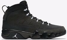 "New Mens Nike AIR JORDAN 9 IX RETRO Shoes ""Anthracite"" 302370 013 -Sz 11 -New"