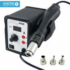 858D Hot Air Gun  Kit  Rework Station SMD Iron Soldering Solder Holder  110V
