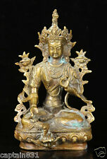 ANTIQUE CHINESE BRONZE FIGURE OF SEATED BUDDHA, 19THC statue