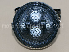 "6.5"" Retro Motorcycle LED Headlight Grill Side Mount Cover W/ Bracket Cafe Racer"