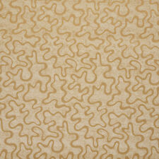 B0090A Gold Abstract Large Squiggly Pattern Upholstery Fabric By The Yard