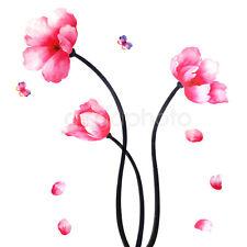 Stickers Graphiques Muraux Papillon Fleur Graphiques Décoratif Chambre Design