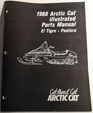 1988 ARCTIC CAT SNOWMOBILE EL TIGRE, PANTERA PARTS MANUAL P/N 2254-447 (909)