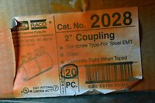 "HUBBEL 2""  SET SCREW TYPE COUPLING FOR STEEL EMT 2028 BOX OF 20"