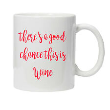 Personalised Wine Mug Cup - Ideal Birthday Gift Present
