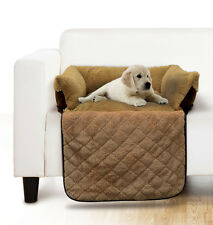 PET COUCH BED,  WALLED SOFA CUSHION FOR DOGS OR CATS - PROTECTS FURNITURE