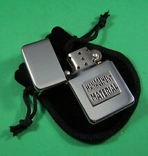 MANAGEMENT MATERIAL Petrol Lighter in Pouch Free UK Post Funny Slogan