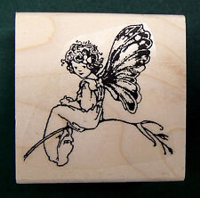 Butterfly Fairy rubber stamp WM 1.4x1.5""