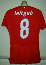 AUSTRIA Football SHIRT TRIKOT match worn LEITGEB 8 Signed XL 2008 against France