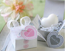 20pcs White Heart Soap For Wedding Party Birthday Souvenirs Gift Favor