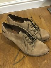 Ladies Clarks Wedge Shoes Light Brown Size 8 New Never Worn