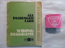 1980 CHEVROLET ALL PASSENGER CARS WIRING DIAGRAMS SERVICE MANUAL