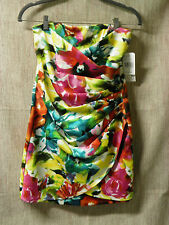 Junior Women size 5 Colorful Strapless JC Penney Speechless Brand Dress NWT