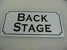 BACK STAGE Metal Sign 4 Community Play House Theater Drama Class