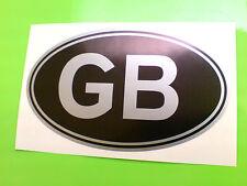 """Gb Reino Unido Plateado Y Negro Clásico van Car calcomanía calcomanía 1 De 7 """"o 180mm"""