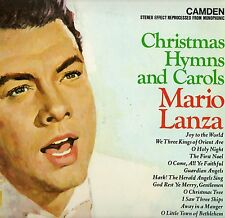 "MARIO LANZA ""CHRISTMAS HYMNS AND CAROLS"" LP 1963 rca camden"