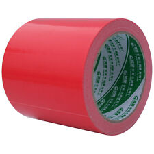 "4"" x 59' Red duct tape waterproof cloth Carpet Pipe bundle Ship adhesive tape"